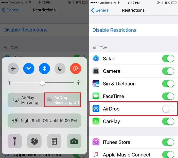 1 Disable AirDrop Restriction on iPhone iPad