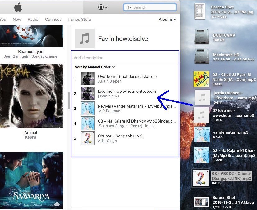 create playlist in iTunes and transfer to iPhone or iPad, iPod