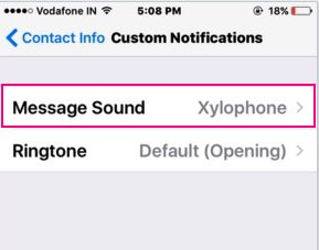 WhatsApp sound for iPhone