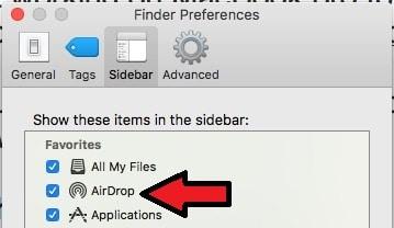 4 AirDrop on Finder Sidebar Mac