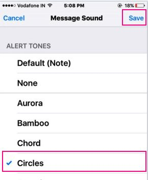 Other tone available for WhatsApp