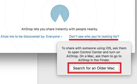 5 Find and use AirDrop on Older unsupported Mac