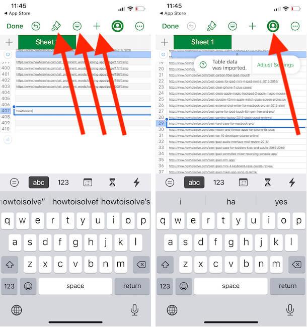 Edit Numbers file on iPhone Numbers app