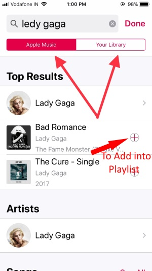 Find Artist Songs to make Playlist in Apple Music