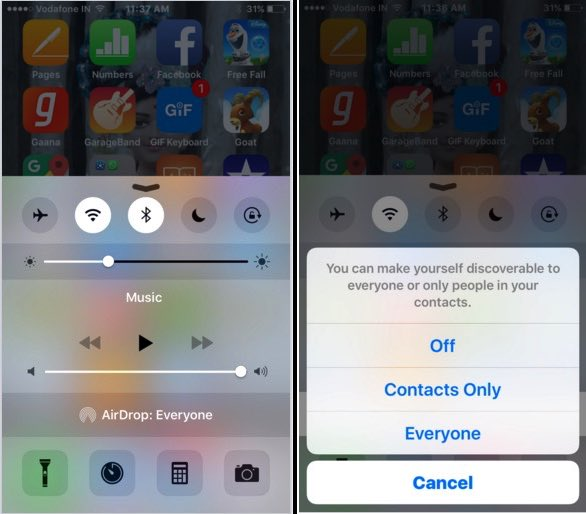 Share file iPhone to iPhone on iOS 9 or iOS 8