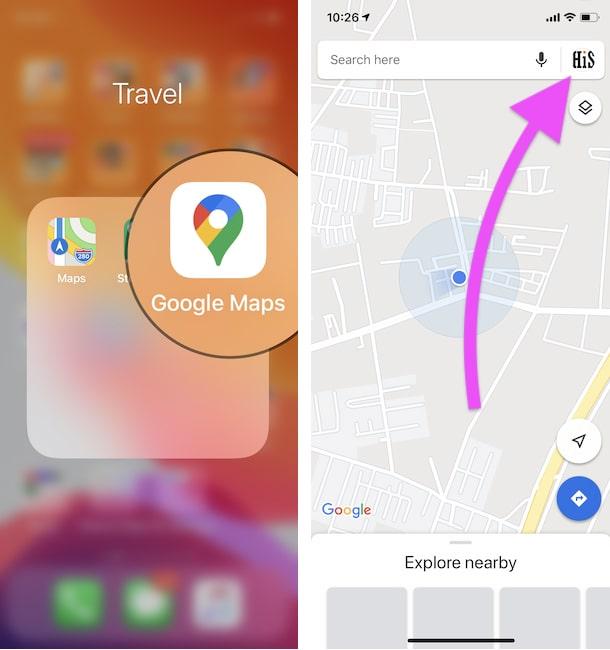 Google maps settings on iPhone-min