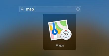 Maps app on Mac-min
