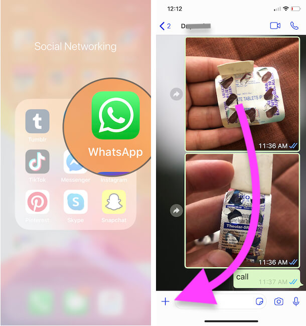 Open WhatsApp on iPhone