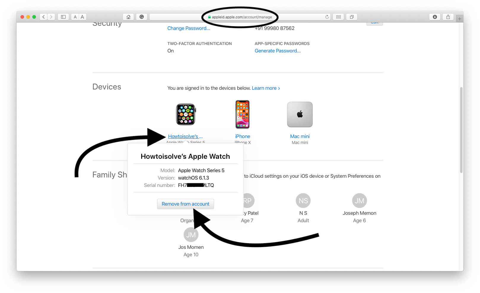 Remove Apple Device from icloud account