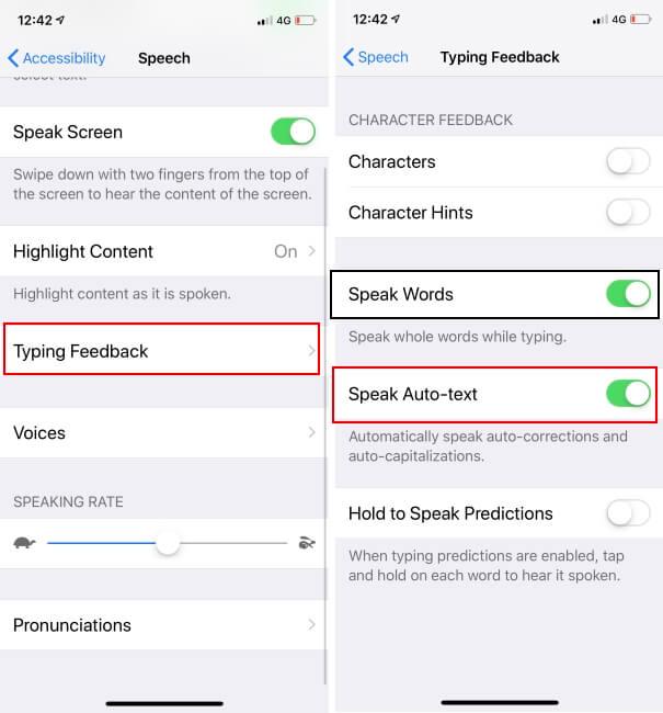 Turn off Voice auto text on iPhone