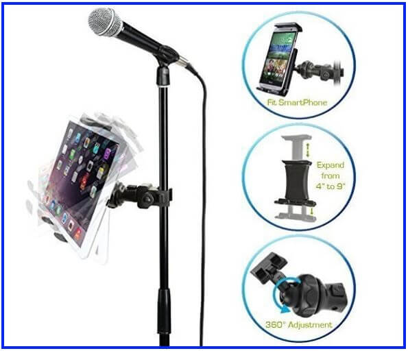 iPad Stand with mic holder