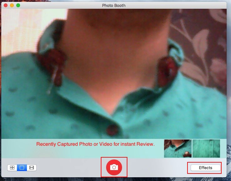 take picture on Mac with webcam or iSight camera on OS X