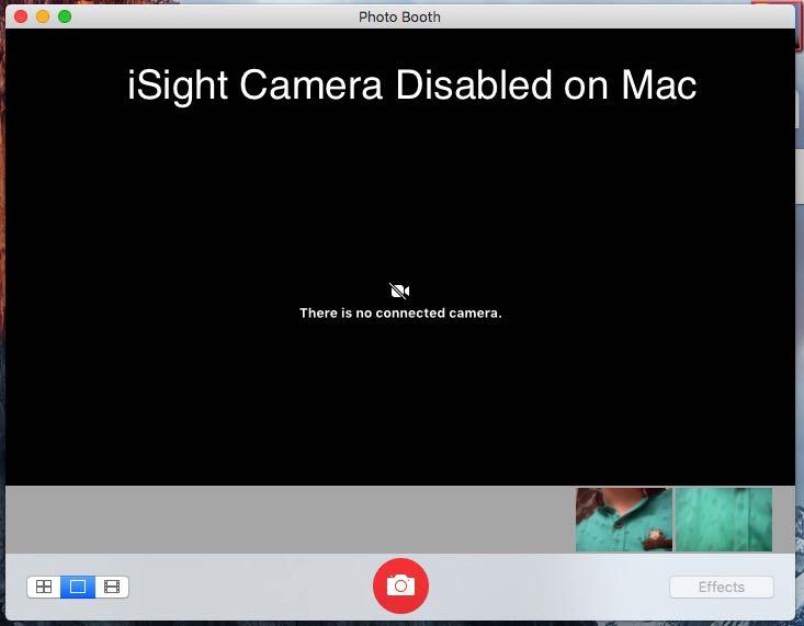 disable iSight camera on Mac OS X Yosemite, EI Capitan