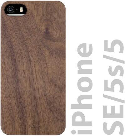 iATO Wood Slim iPhone SE Case
