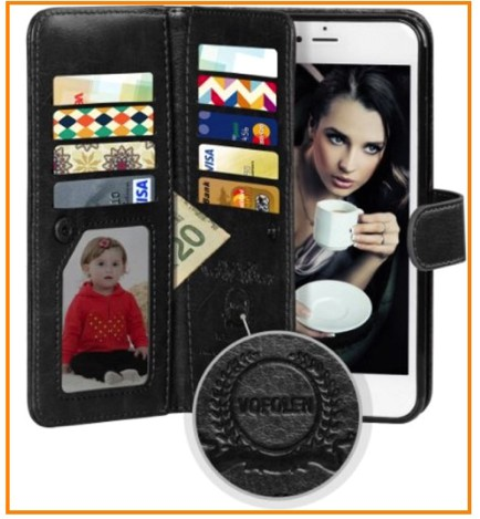 Leather iPhone 6 case for card slot