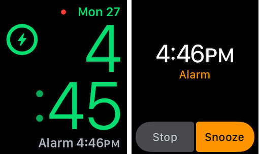 Alarm on Apple Watch on Charging time