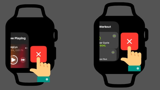Close Recent and Backgroud App from Apple Watch