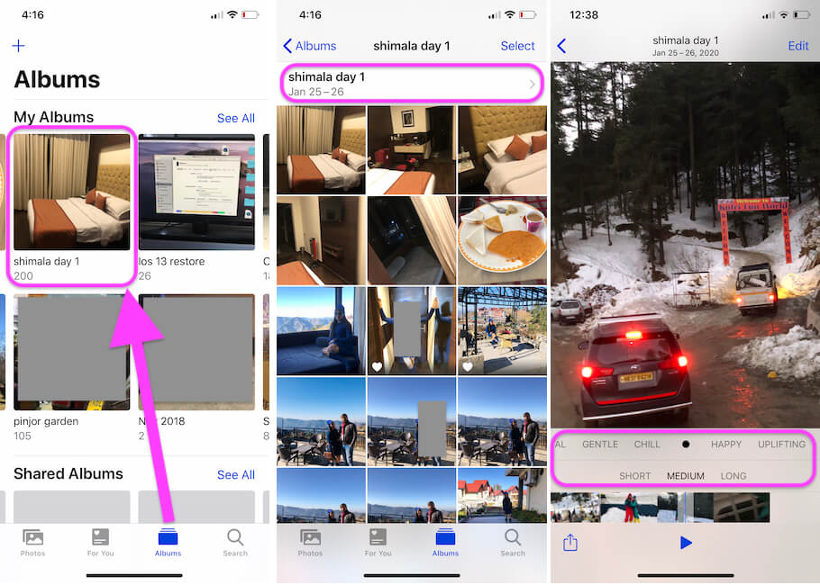 Convert Photos in to Video Using Photos app on iPhone