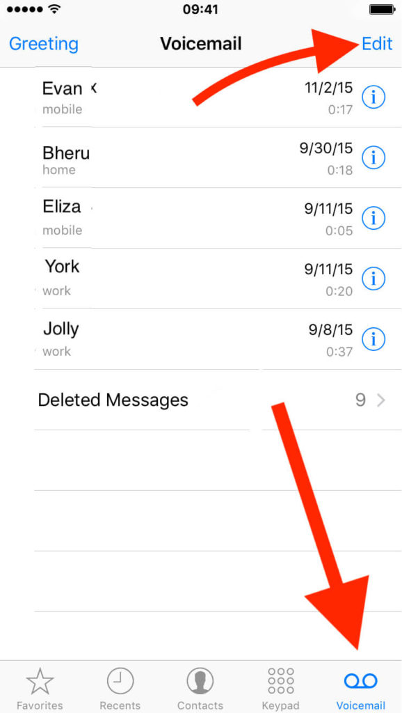 Delete Voicemail on iPhone