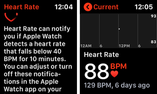 Measure Heart Rate on Apple Watch in BPM
