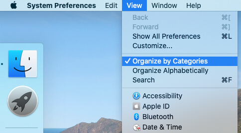 Organize by Category on MacBook System Preferences