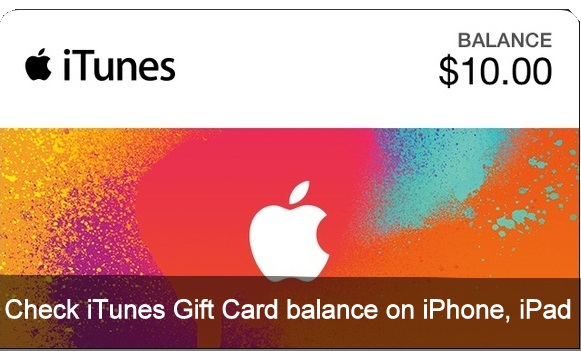 How to check iTunes Gift Card balance on