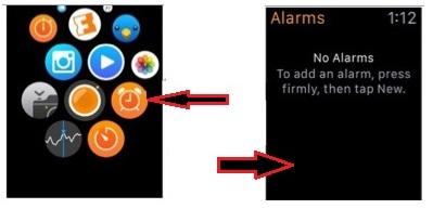 way to set alarm clock on apple watch