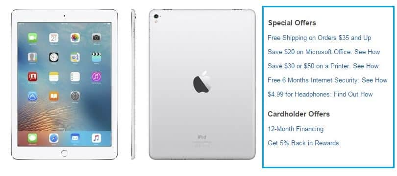 iPad pro extra offer on buy from best buy