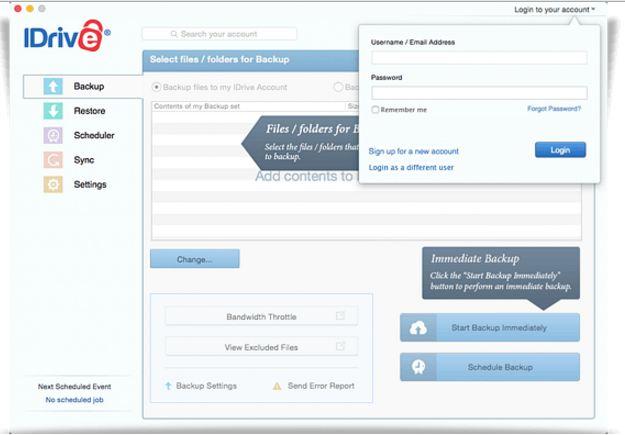 iDrive Mac for online backup