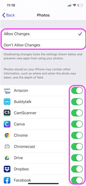 Allow to Access Photos on App