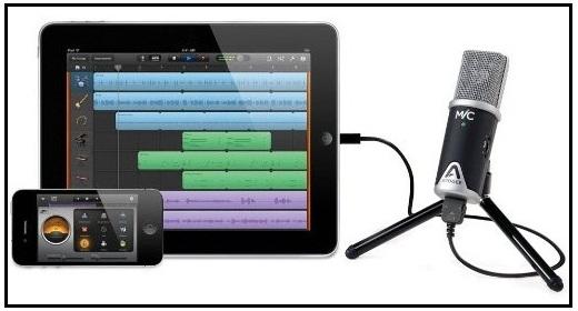 Apogee best Microphone for Apple iPadAir, iPad Mini, iPad Pro