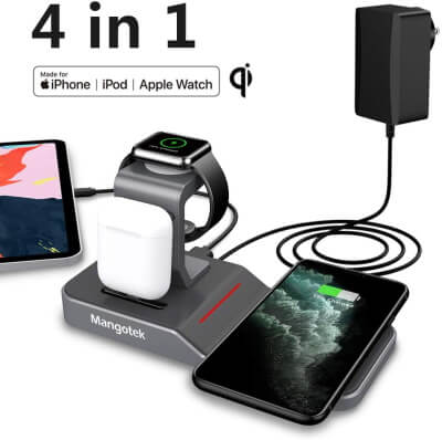 Mangotek Apple Watch and iPhone SE Charging Stand