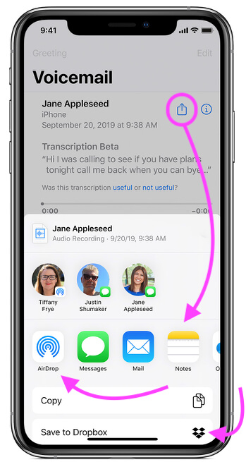 Move or Save iPhone Voicemails to Another New iPhone