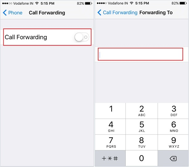 forward calls from one iPhone to another iPhone iOS 9