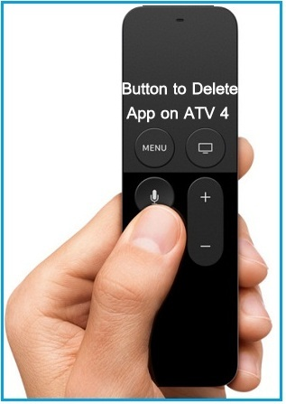 press the Play/pause button on siri remote to uninstall hide or delete Netflix apple tv 4