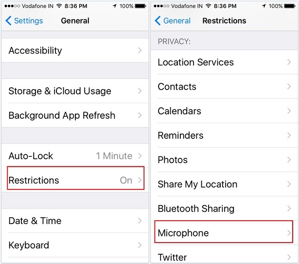 don;t want access iPhone microphone for third-party apps