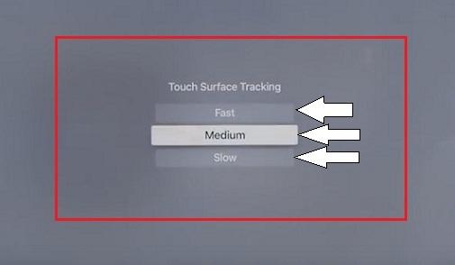 Adjust Touch sensitivity on Apple TV