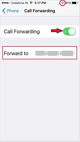 calls forward iPhone without the phone