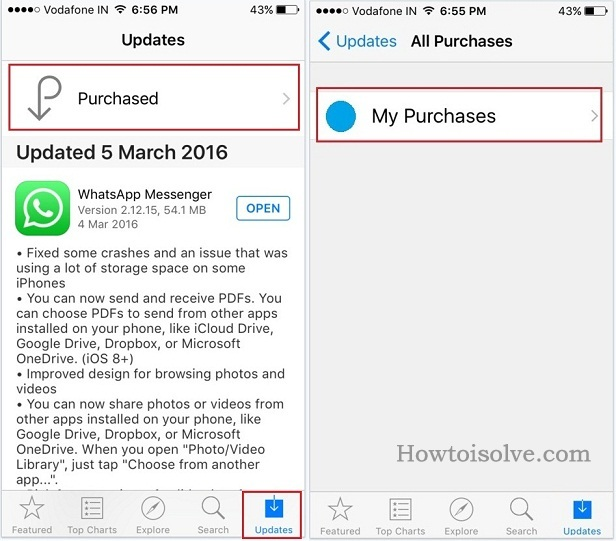 deleted apps on iPhone, iPad, iPod Touch