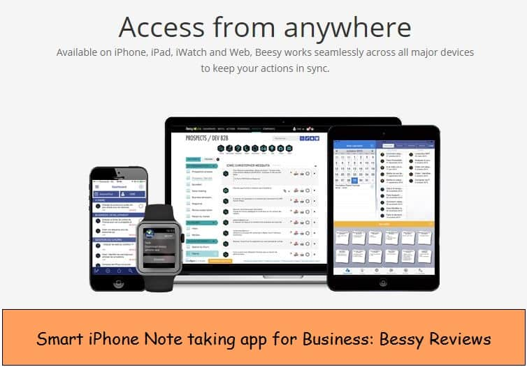 Note taking iPhone app for iOS 8, iOS 9