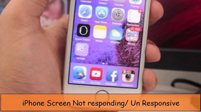 iPhone touch screen stop working or not responding