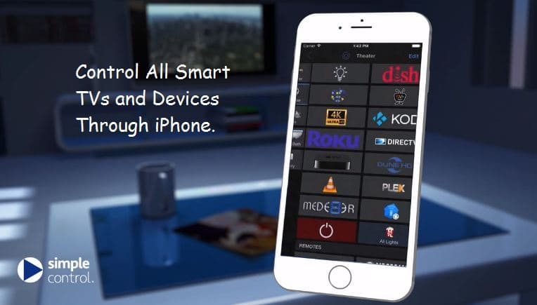 iPhone for smart TV Remote from remote distance