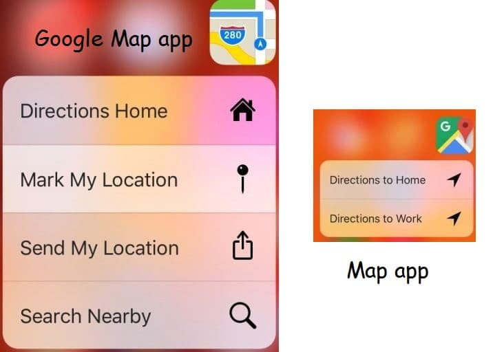 4 Direction app for 3D touch in iPhone 6S or 6S Plus