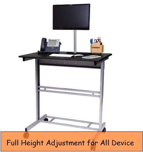 Perfect height adjustable stand or desk for Desktop, Laptop