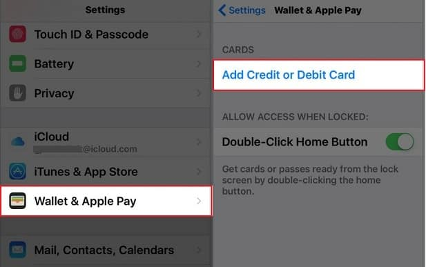 Re-add card for Apple pay
