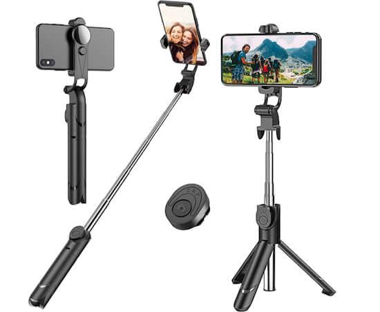 Extendable Selfie Stick Tripod with Detachable Wireless Remote