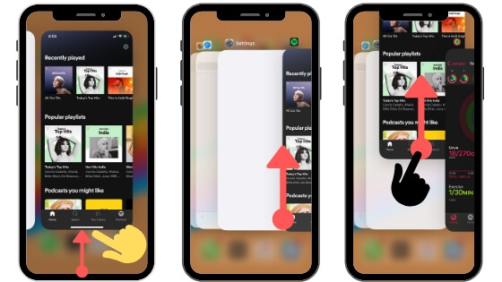 Force Close Background App on iPhone [No Home Button iPhone X or Later]