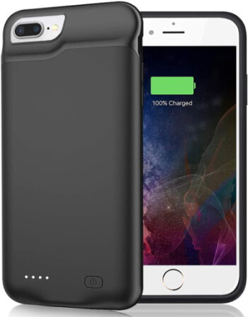 JERRS – 6500 mAh Battery Case for iPhone 8 Plus