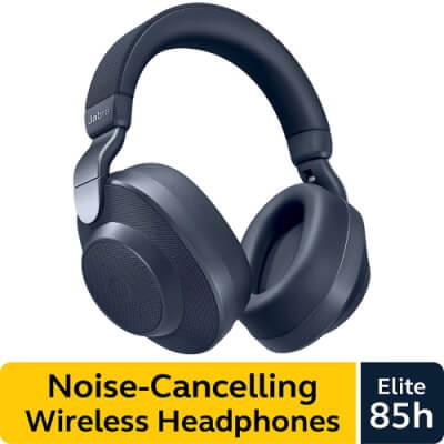 Jabra Elite 85h Wireless Noise-Canceling Headphones