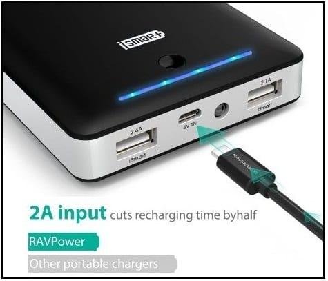 RAVpower Best iPhone SE Portable Power Bank 2016 external